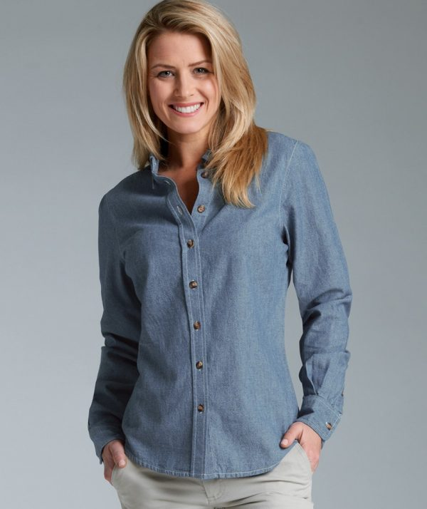 ce4a6959c 2327 | Women's Button Down Collar Chambray Shirt Charles River Apparel